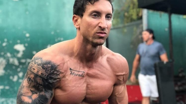 Troy Adashun Ripped Body in Gym