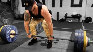 Troy barbell deadlift