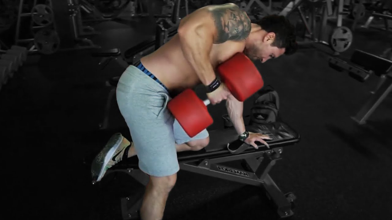 Troy one arm dumbbell row