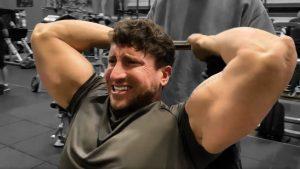 Ez Bar Overhead Triceps