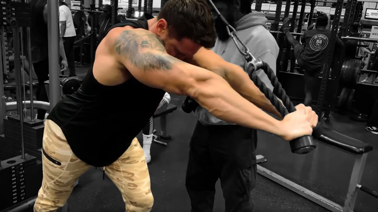 Troy Overhead Rope Tricep Extension tension