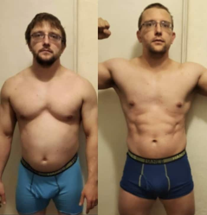 Chris - before & after