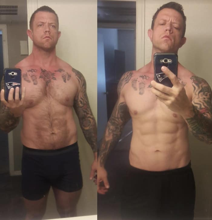 Dustin - before & after