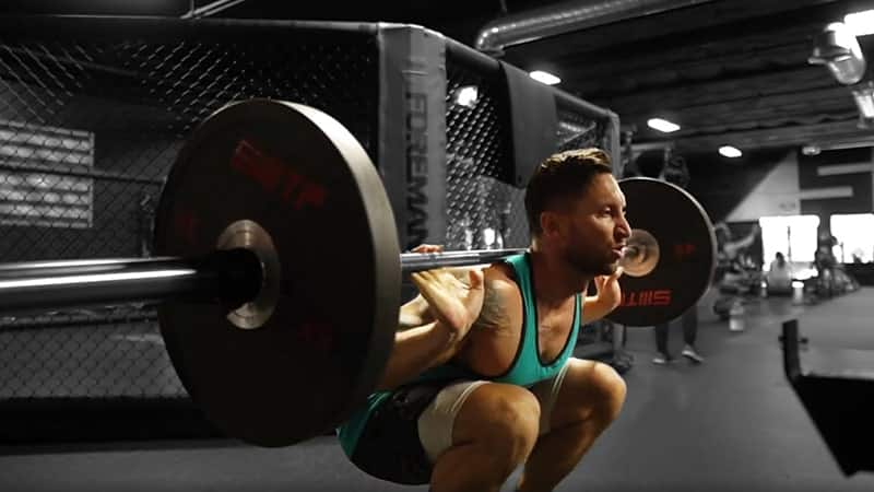 correct barbell position on your back when doing barbell squats