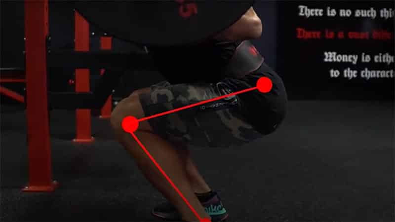 correct position of the legs when doing a barbell squar