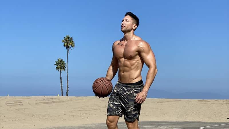 Troy playing basketball