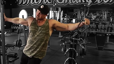 Troy doing a cable lateral raise