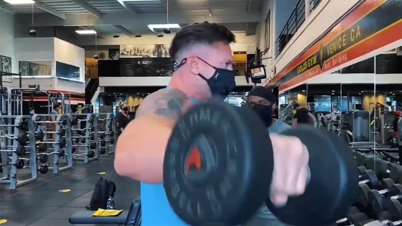 Troy doing a dumbbell lateral raise